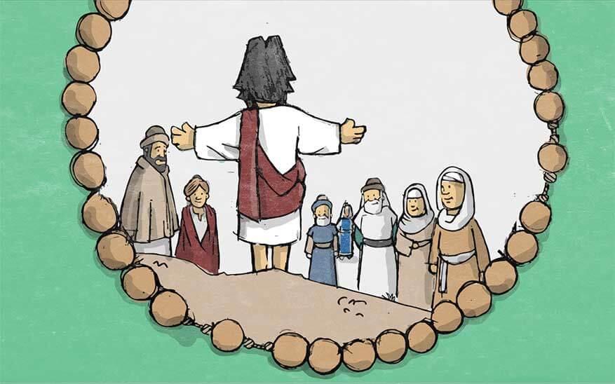 Jezus' aankondiging van het Rijk Gods - Geheimen van Licht - Rozenkrans