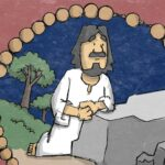 Jezus bidt in doodsangst tot zijn hemelse Vader - Droevige Geheimen - Rozenkrans