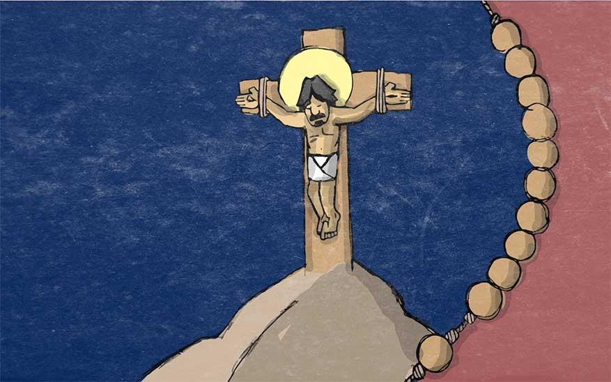 Jezus sterft aan het kruis - Droevige Geheimen - Rozenkrans