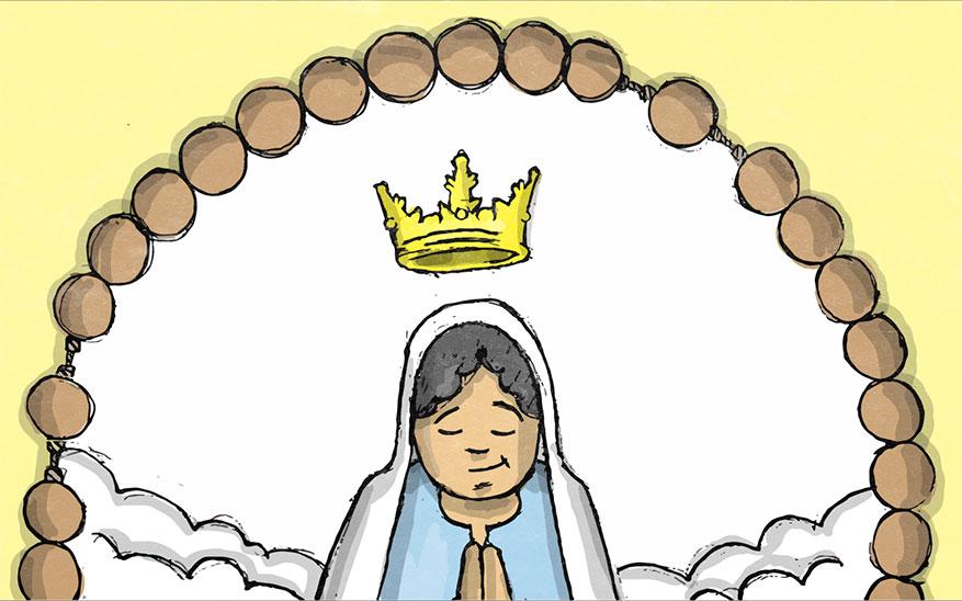 Maria wordt in de hemel gekroond - Glorievolle Geheimen - Rozenkrans