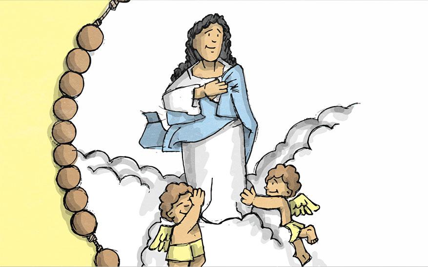Maria wordt in de hemel opgenomen - Glorievolle Geheimen - Rozenkrans