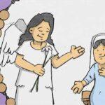De engel Gabriël brengt de blijde boodschap aan Maria - Blijde Geheimen - Rozenkrans