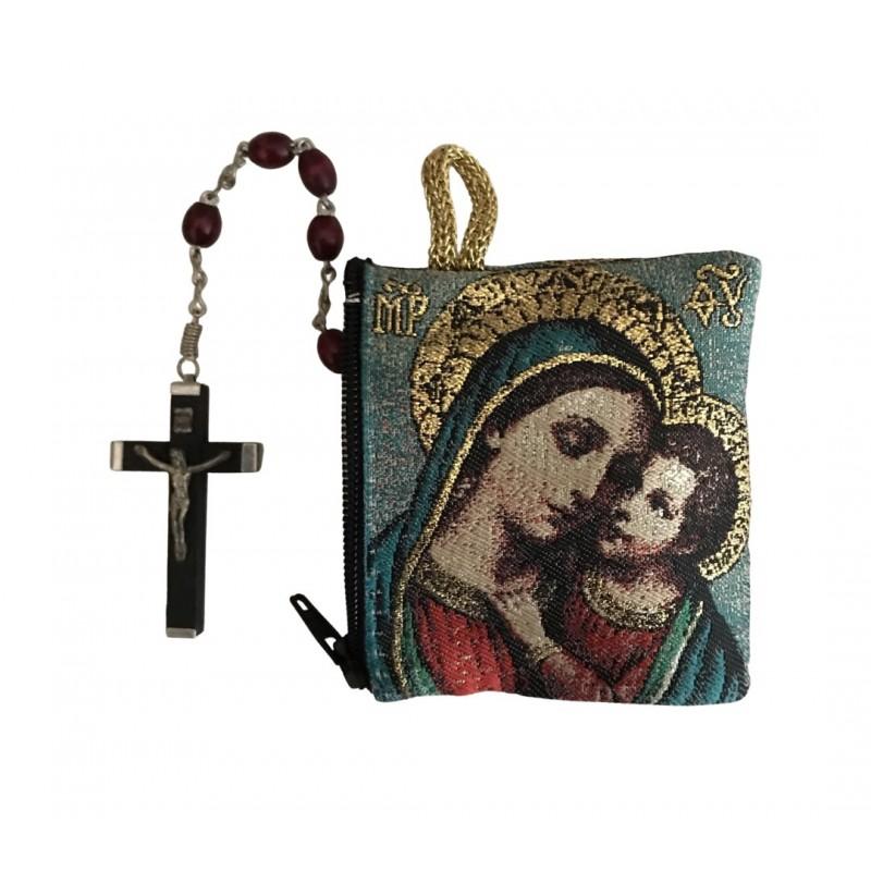 Rozenkranszakje Maria met kindje Jezus